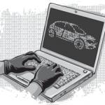 Hacker auto al lavoro